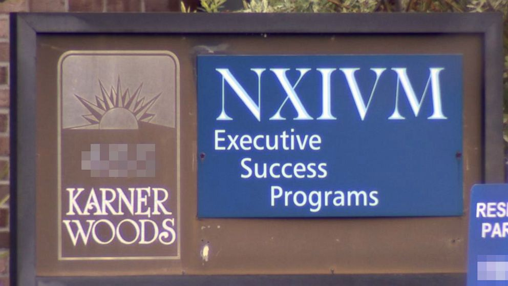 A sign outside of the NXIVM company's offices in Albany, New York.