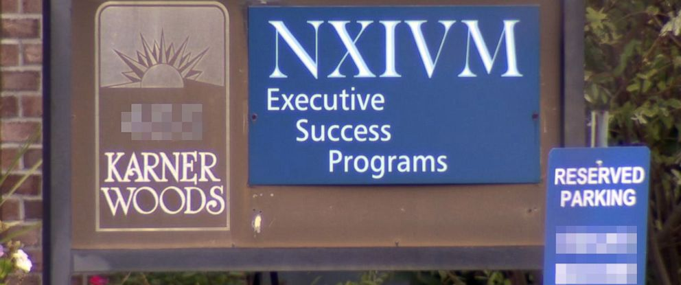 PHOTO: A sign outside of the NXIVM companys offices in Albany, N.Y.