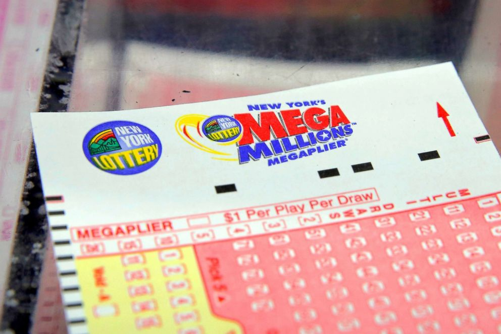 PHOTO: A Mega Millions lottery ticket is seen in New York, July 1, 2016.