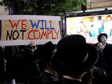 Protests continue as NYC renews restrictions for COVID-19 hot spots thumbnail