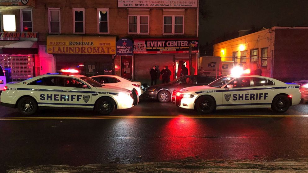 PHOTO: New York City Sheriff's deputies shut down illegal club in Queens, New York, with 160 people inside, Dec. 21, 2020.