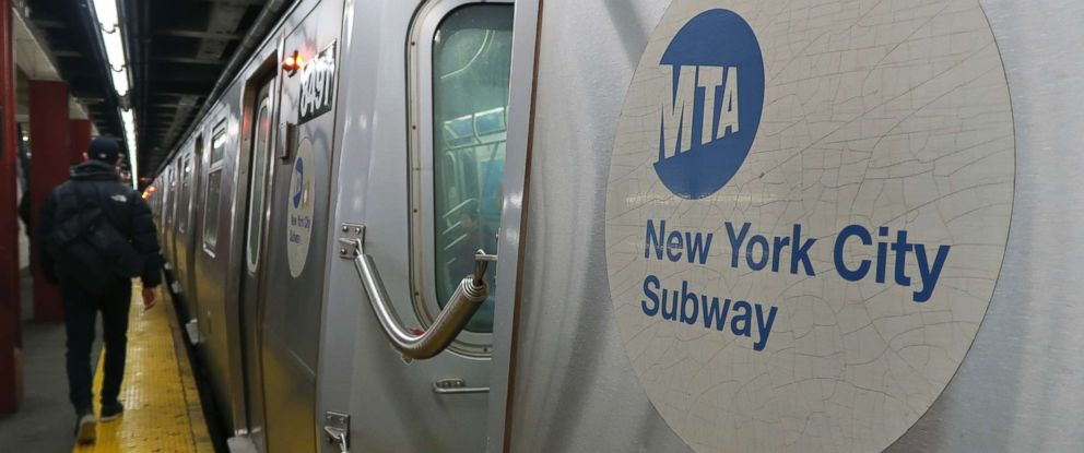 PHOTO: Subway train pulls into a station in New York City.
