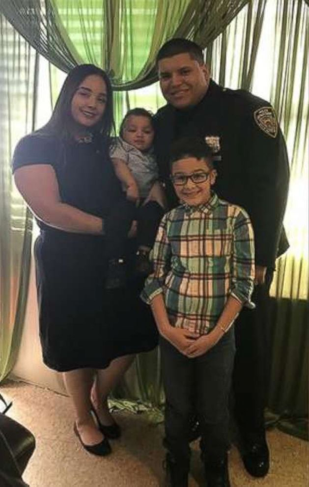PHOTO: Officer Leonardo Escorcia is pictured with his family.