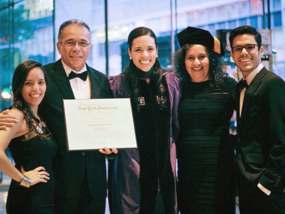 PHOTO: Dr. Edith Bracho-Sanchez and her family on the day of her graduation from NYU Medical School in 2015.