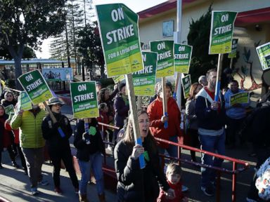 Teachers' strikes roll on as 3,000 more educators hit the picket line in California