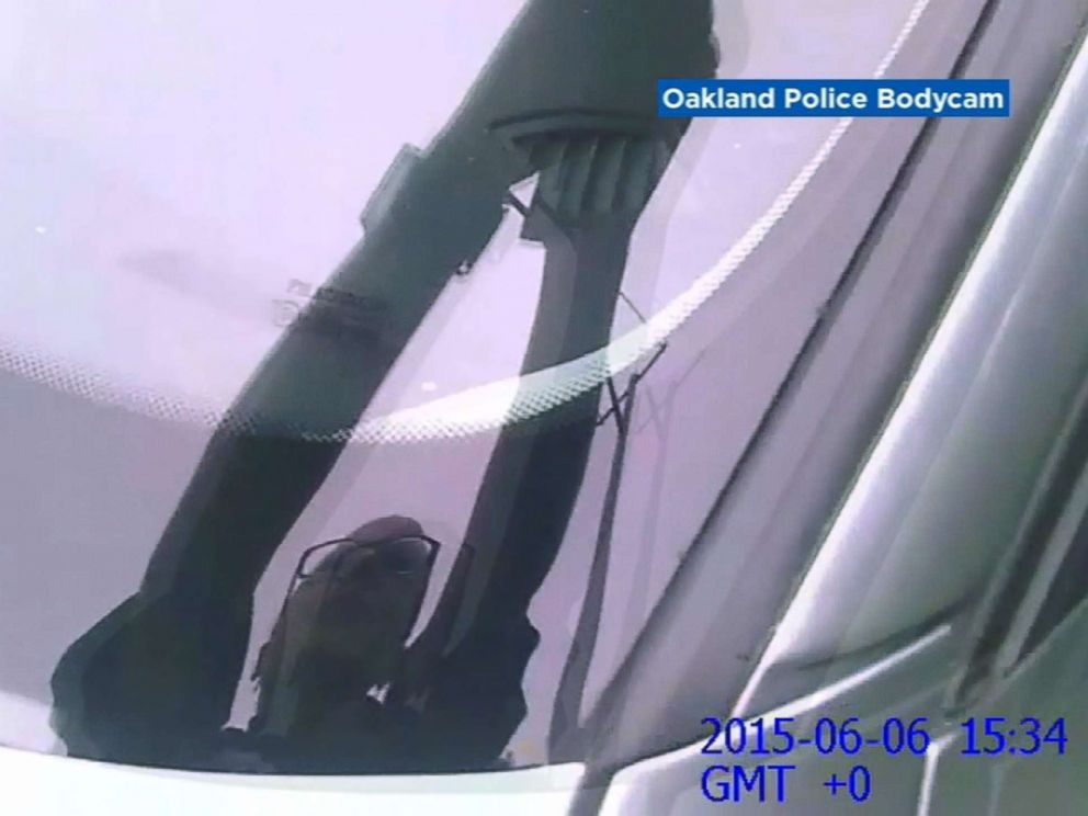PHOTO: A still image from a bodycam video released by Oakland police of a deadly shooting of a man found passed out behind the wheel of a car in Oakland, Calif., in June 2015, after officers claimed he reached for a loaded handgun when confronted.