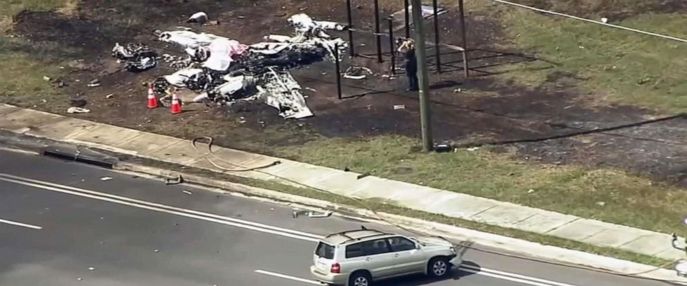 PHOTO: A small plane crashed into an SUV, Oct. 31, 2019, in Ocala, Florida, killing both plane passengers and injuring the driver.