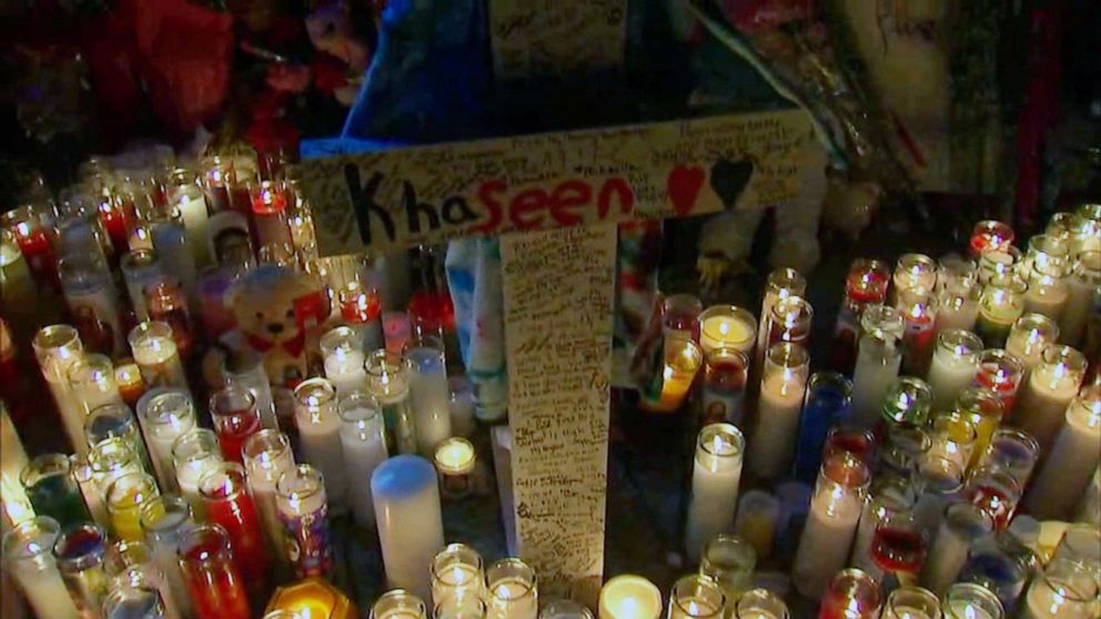 PHOTO: A memorial for Khaseen Morris was held on Sept. 18, 2019 in Oceanside, N.Y., two days after he was killed.
