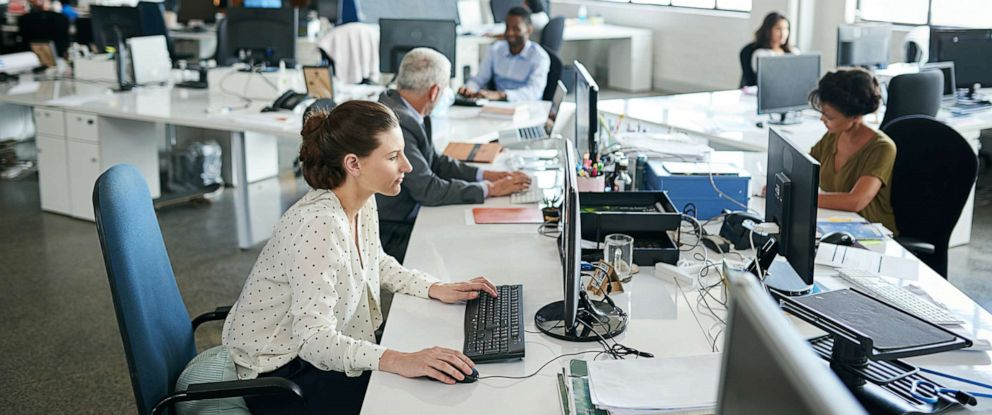 PHOTO: Office workers are depicted in an undated stock photo.