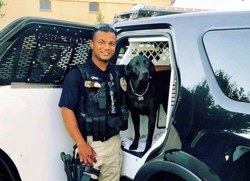 PHOTO: This undated file photo provided by the Newman Police Department shows officer Ronil Singh who was killed on duty conducting a traffic stop, Dec. 26, 2018, in the town of Newman, Calif.