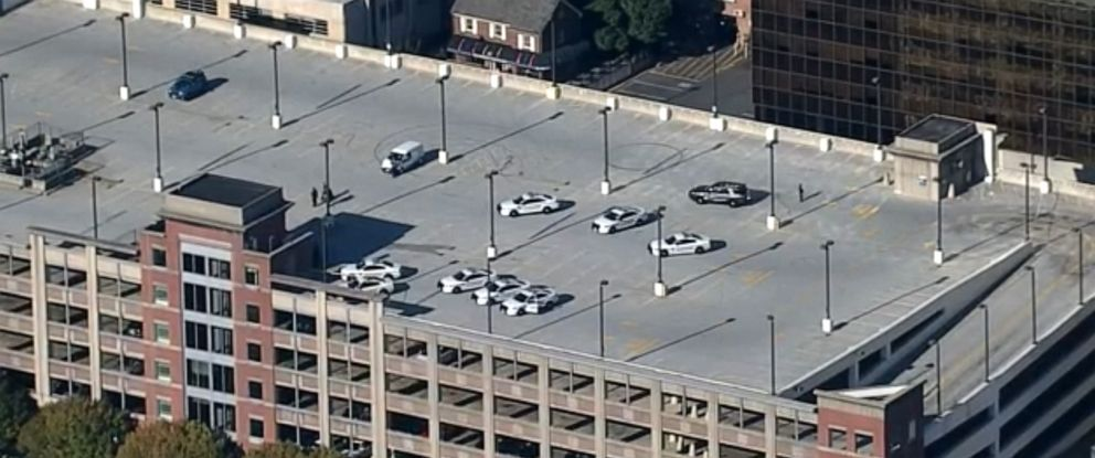 PHOTO: A Montgomery County Police officer has been shot near a parking garage in Silver Spring, Md., Oct. 14, 2019.