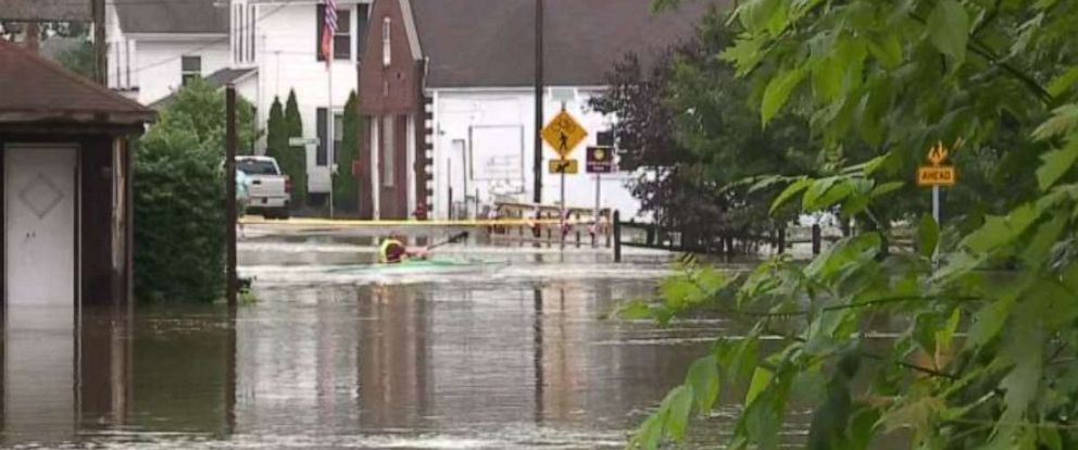 PHOTO: The village of Clinton, Ohio, was hit by flooding due to heavy rain on Tuesday, June 18, 2019.