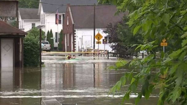 Heavy rain brings flash flooding threat for Midwest, Northeast