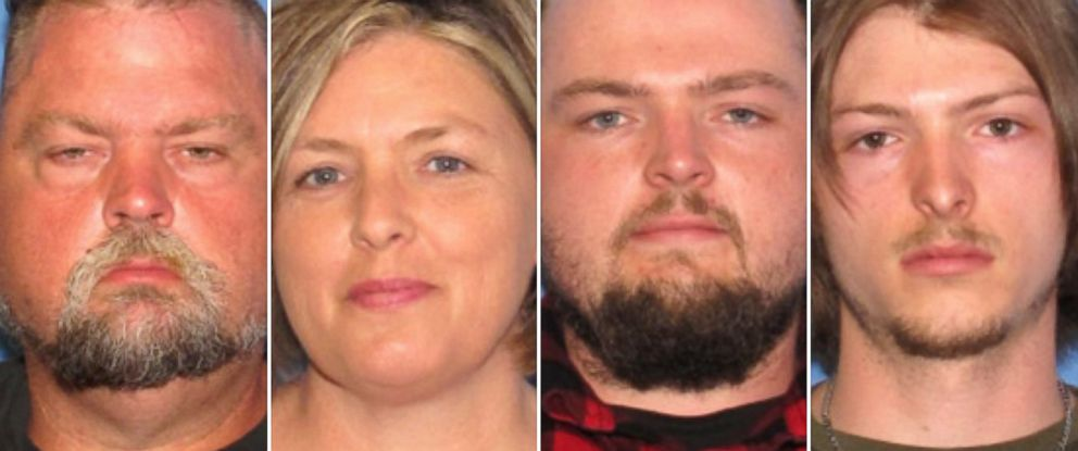 "PHOTO: Four members of the same family have been arrested in connection with the murder of eight people in 2016: George ""Billy"" Wagner III, 47; Angela Wagner, 48; George Wagner IV, 27; and Edward ""Jake"" Wagner, 26."