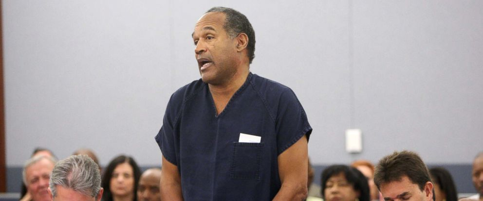 PHOTO: OJ Simpson speaks in court prior to his sentencing at the Clark County Regional Justice Center, Dec. 5, 2008, in Las Vegas.