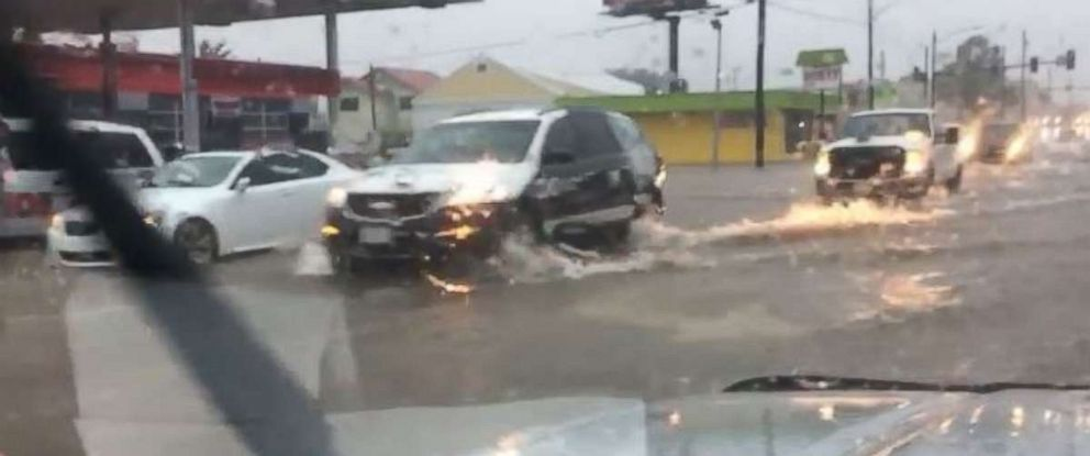 PHOTO: Flash flooding hit Ada, Okla., on Friday, Sept. 21, 2018, as parts of the state received 10 to 15 inches of rain since late Wednesday.