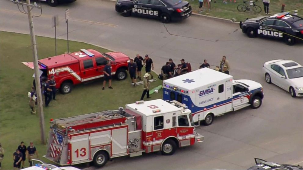 Multiple people were injured in a shooting at an Oklahoma City restaurant Thursday afternoon, police said.