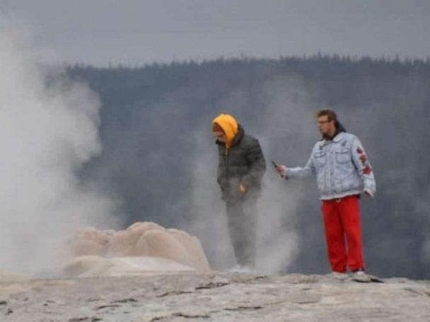 2 men facing charges after caught on camera trespassing at Yellowstone's Old Faithful
