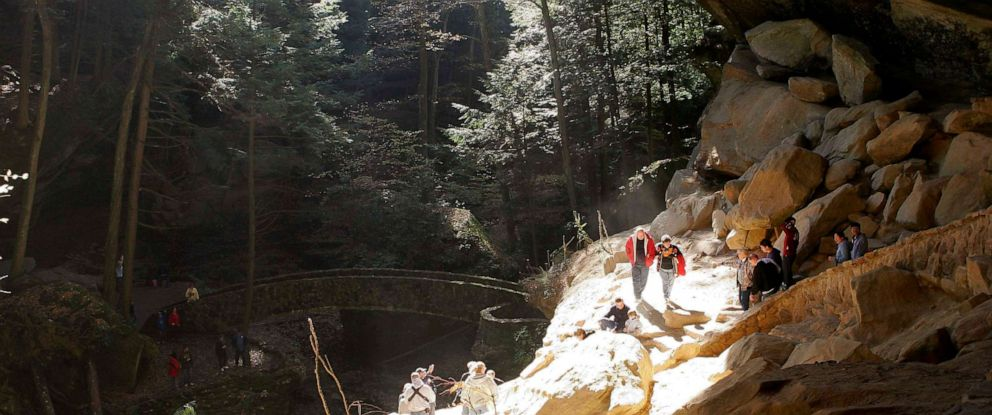 PHOTO: Popular tourist attraction Old mans Cave in Hocking Hills State Park in Logan, Ohio, Oct. 30, 2005.