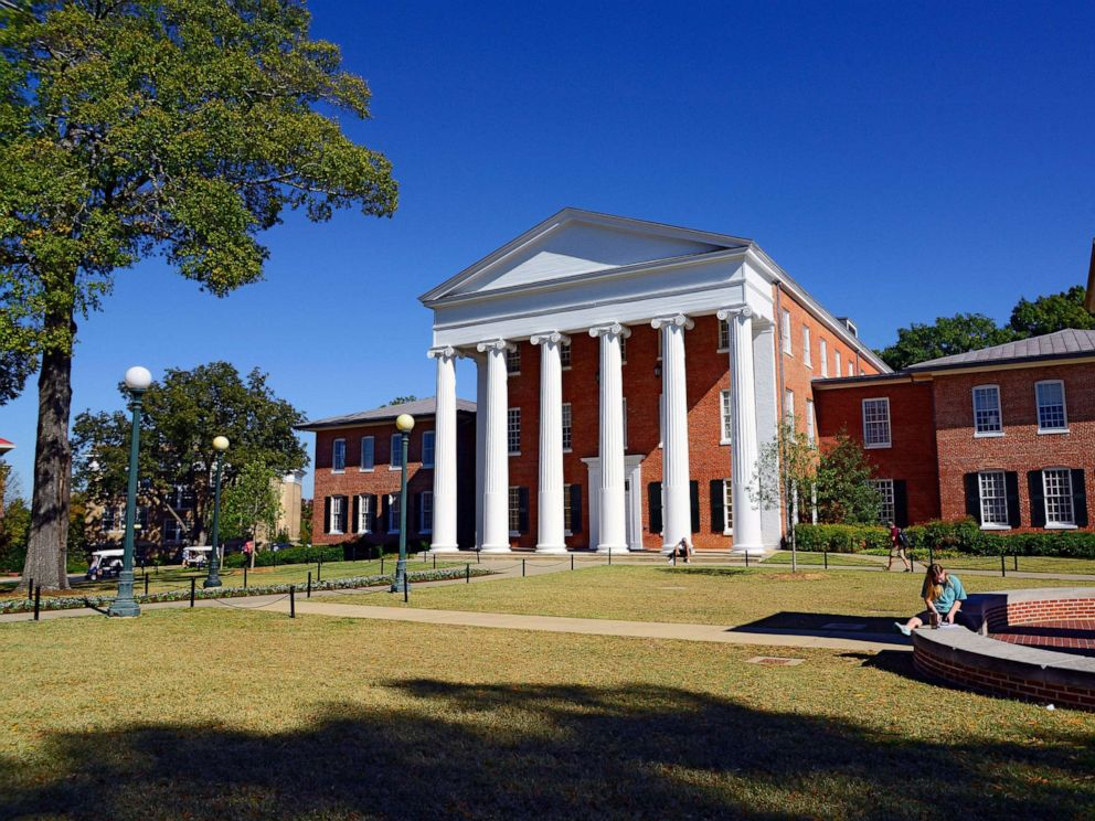 PHOTO: The Lyceum Building is shown on the Ole Miss campus in Oxford, MS.