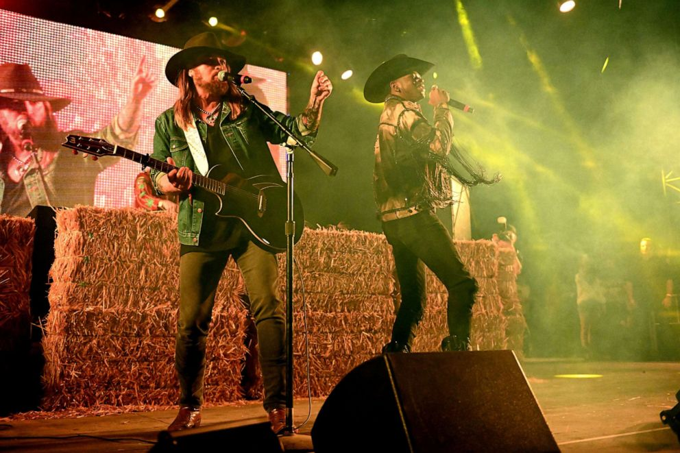 PHOTO: Billy Ray Cyrus and Lil Nas X perform on April 28, 2019 in Indio, Calif.