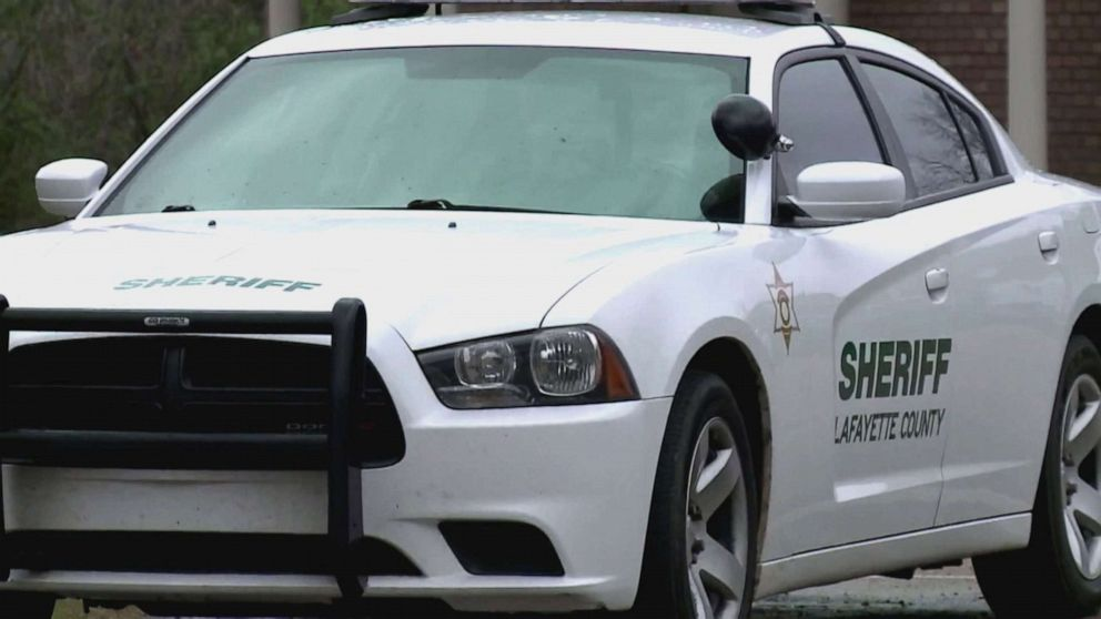 PHOTO: A Lafayette County sherrifs car is shown in this screen grab from a video.