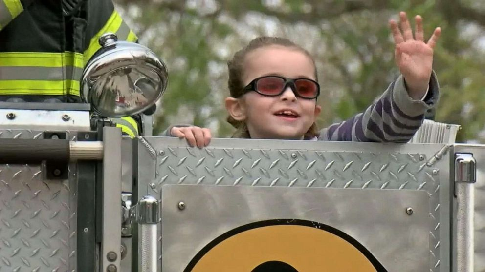 PHOTO: Olivia Gant rides a firetruck in Colorado before she died.