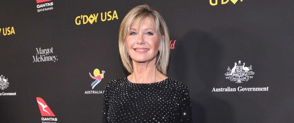 PHOTO: Olivia Newton John attends the 2018 GDay USA Black Tie Gala at InterContinental Los Angeles Downtown on Jan. 27, 2018, in Los Angeles, Calif.
