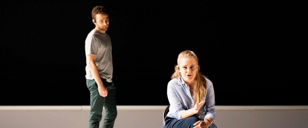 "PHOTO: ""Denis & Katya"" stars mezzo-soprano Siena Licht Miller (seated) and baritone Theo Hoffman."