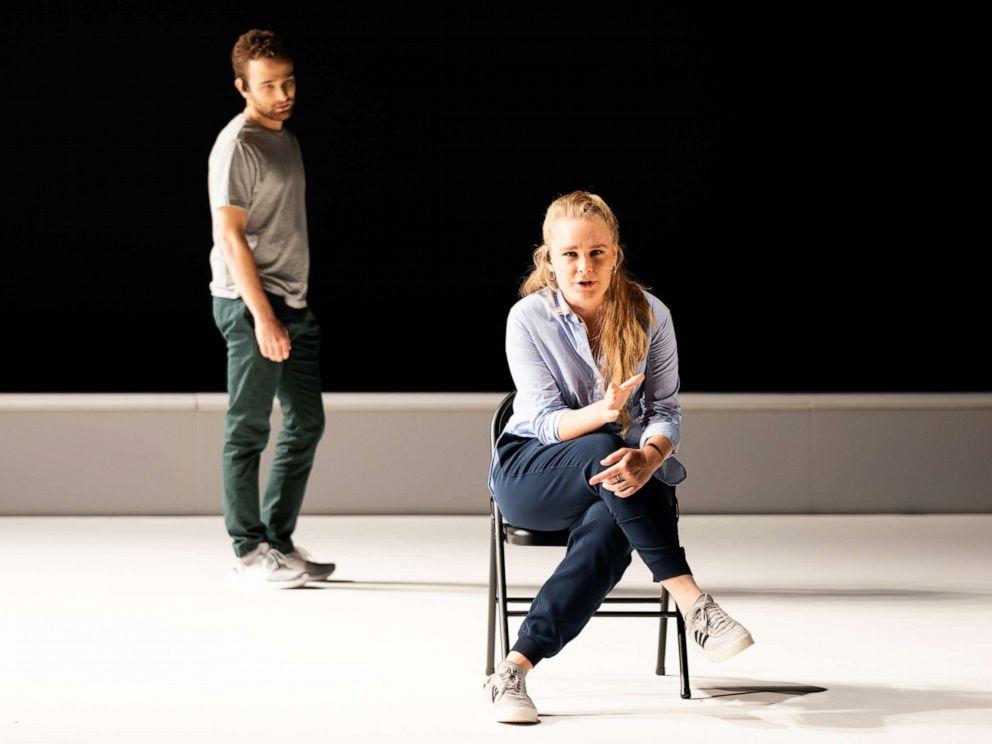 PHOTO: Denis & Katya stars mezzo-soprano Siena Licht Miller (seated) and baritone Theo Hoffman.