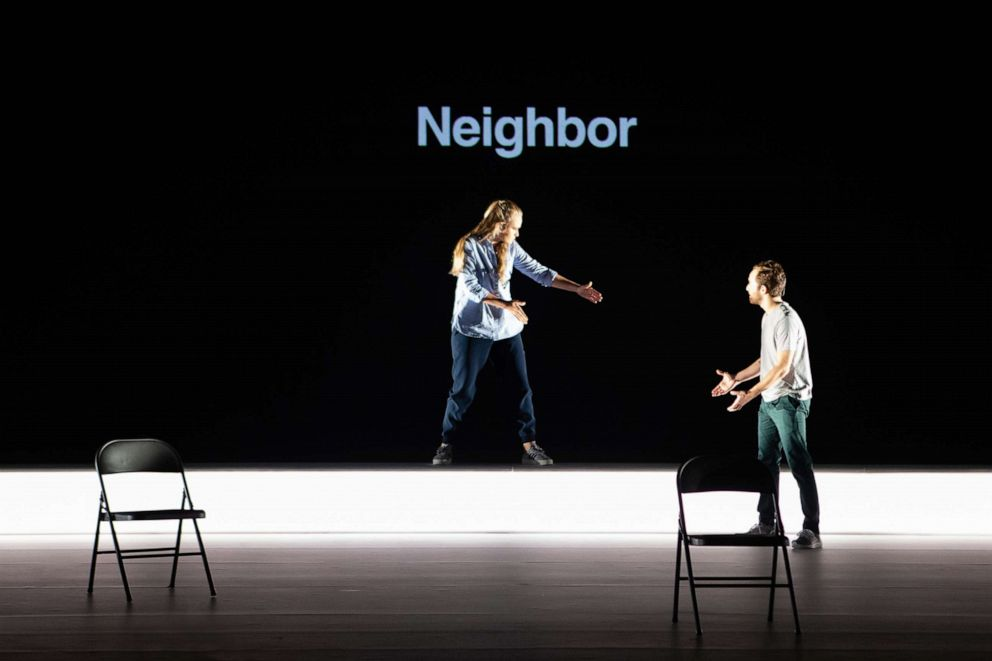 PHOTO: A neighbor who witnessed the real-life incident on which the opera is based, and who was interviewed by the creative team during the creation of the piece, is one of the voices performed by mezzo-soprano Siena Licht Miller in Denis & Katya.