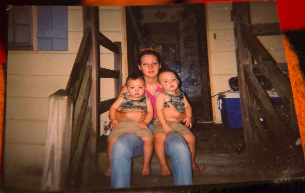 PHOTO: Tera Crowder holds her twins, Jacob and Jeremy during their first birthday party in 2002. Her mother Deborah filed for custody of the twins the same year.