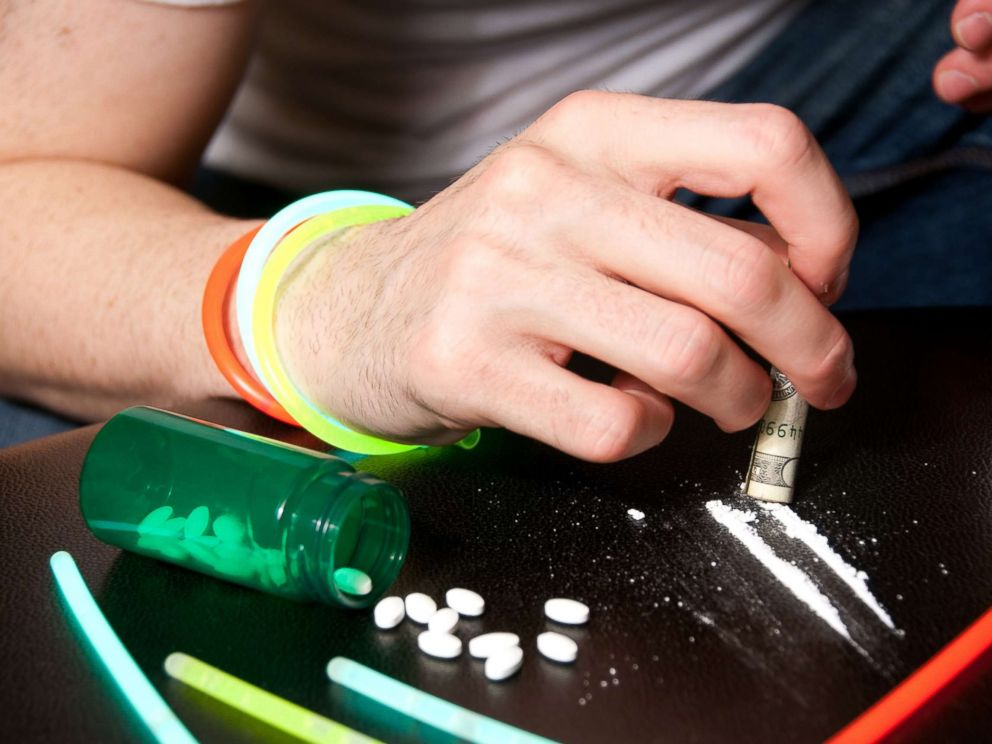 PHOTO: A young mans handles opioids in this undated stock photo.
