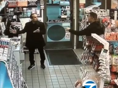 Off-duty police officer pointed a gun at man buying Mentos candy