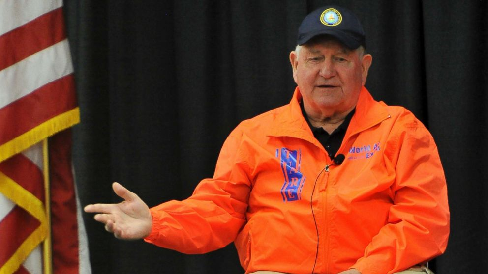 U.S. Agriculture Secretary Sonny Perdue speaks during a town hall meeting at the World Ag Expo, Tuesday, Feb. 13, 2018, in Tulare, Calif.