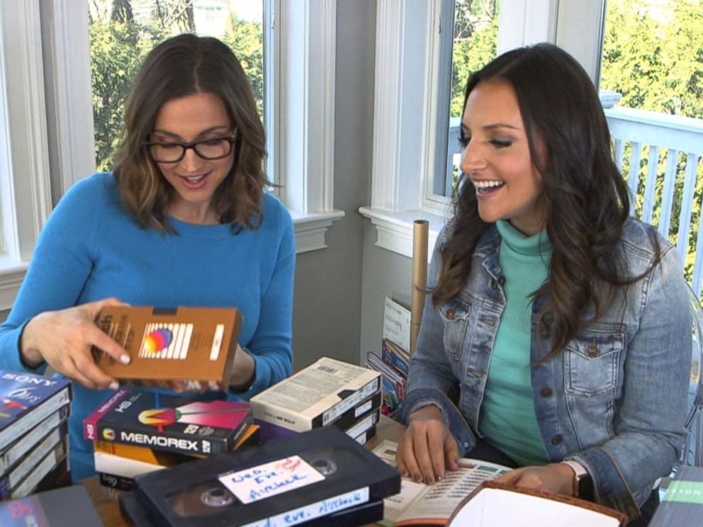 PHOTO: ABC News Paula Faris and DIY guru Brit Morin discuss how to declutter VHS tapes from your home.