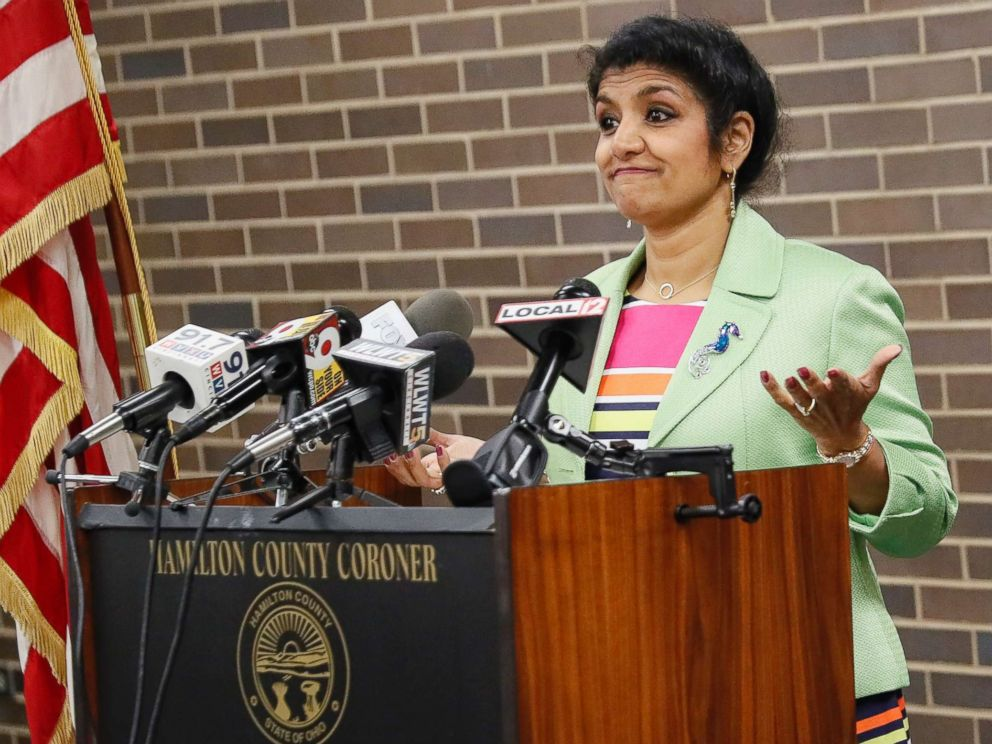 PHOTO: Dr. Lakshmi Kode Sammarco speaks during a news conference regarding the circumstances surrounding the death of 22-year-old University of Virginia undergraduate student Otto Warmbier, Sept. 27, 2017.