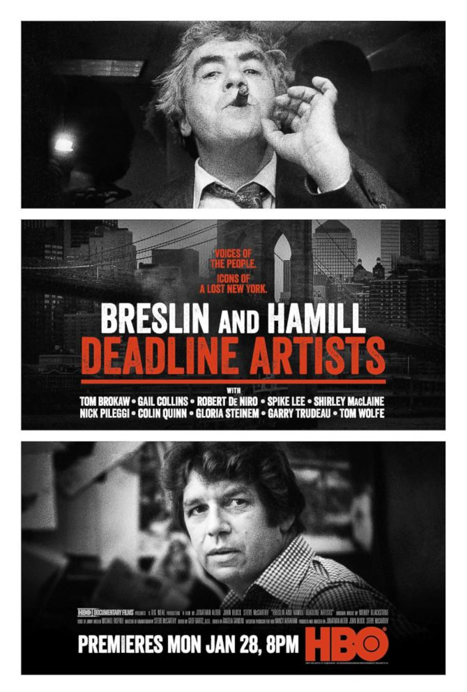 PHOTO: Movie poster for Breslin and Hamill: Deadline Artists