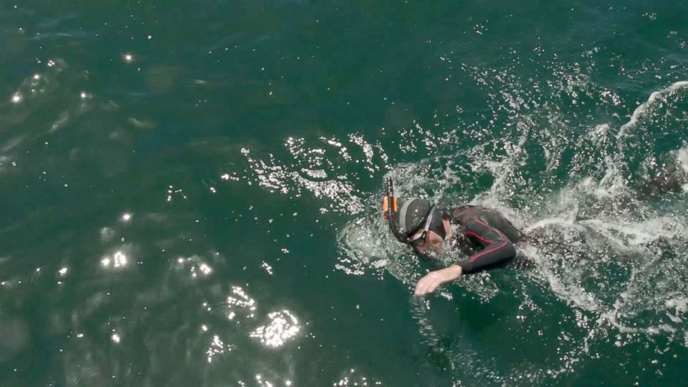 man who beat atlantic ocean poised to become 1st person to swim