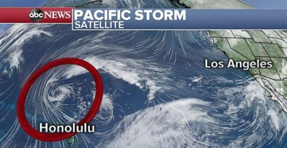 PHOTO: A rapidly intensifying storm could bring major impacts to Hawaii on Sunday and Monday.