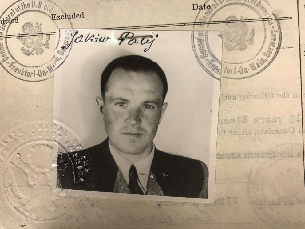 Jakiw Palij, allegedly a former Nazi labor camp guard, seen in his U.S. visa photo from 1949.