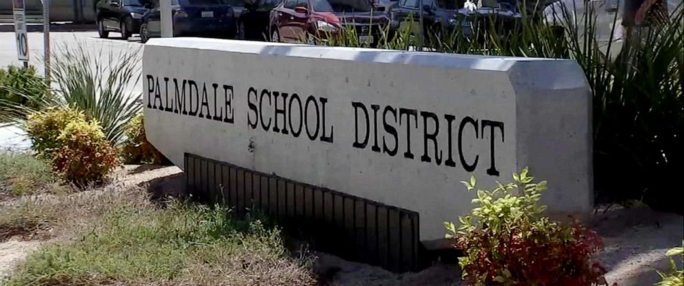 PHOTO: A Palmdale School District sign is seen here.