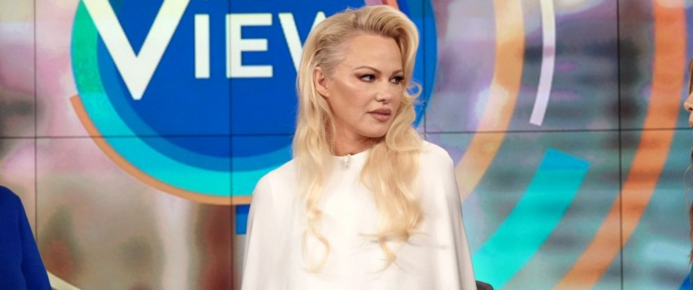 """PHOTO: Pamela Anderson speaks out about Julian Assange on """"The View,"""" Sept. 6, 2019, in her first TV interview since visiting him in May."""