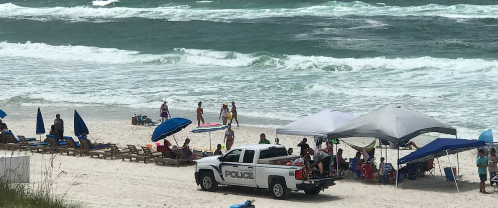PHOTO: Authorities in Panama City Beach warned swimmers to avoid going in the water because of strong rip currents.
