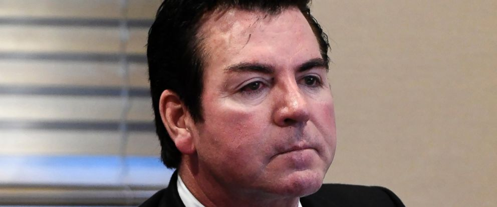 In this Wednesday, Oct. 18, 2017, file photo, Papa Johns founder and CEO John Schnatter attends a meeting in Louisville, Ky.