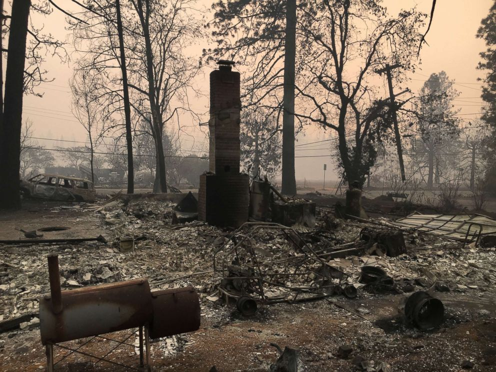 PHOTO: When Paradise, California, resident Jeff Hill returned to his childhood home, it was gone, he told ABC News.