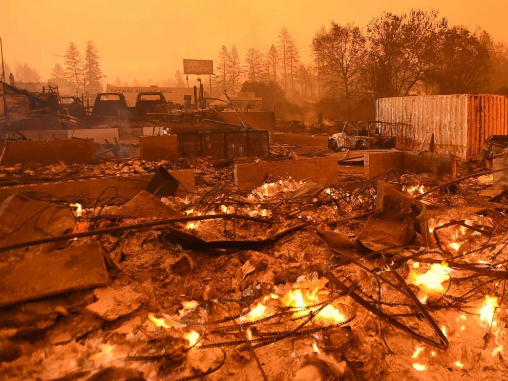 paradise lost 9 dead after northern california wildfire engulfs