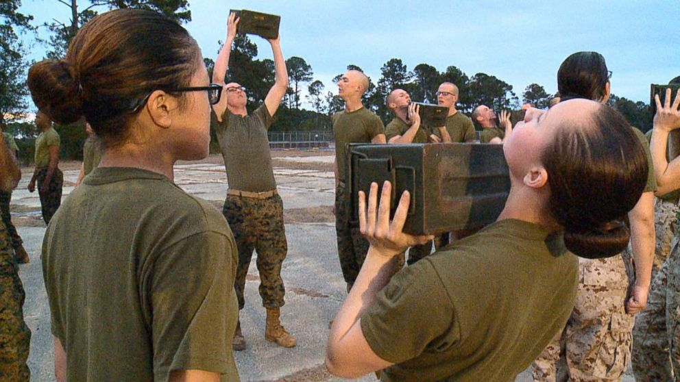 At boot camp, Marine Corps working to