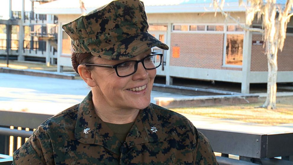 Lt. Col. Misty Posey, Commanding Officer, 4th Recruit Training Battalion  speaks with ABC News at at Marine Corps Recruit Depot Parris Island in South Carolina, Feb. 2, 2018.