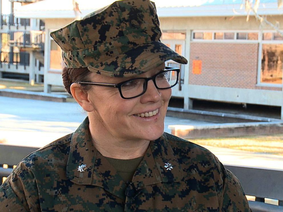 PHOTO: Lt. Col. Misty Posey, Commanding Officer, 4th Recruit Training Battalion speaks with ABC News at at Marine Corps Recruit Depot Parris Island in South Carolina, Feb. 2, 2018.